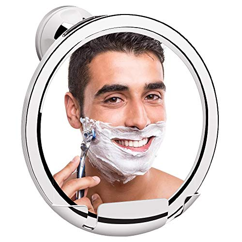 KEDSUM Fogless Shower Mirror, No Fog Bathroom Mirror with Razor Holder, Fog Free Shaving Mirror with Upgraded Strong Locking Suction, Fogless Mirror for Shower with 360°Rotation,Guaranteed Not to Fog