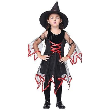 OwlFay Niñas Disfraz Bruja para Halloween Cosplay Vestido de ...