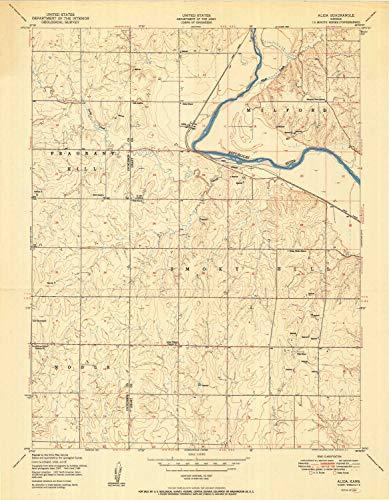 (YellowMaps Alida KS topo map, 1:24000 Scale, 7.5 X 7.5 Minute, Historical, 1950, 27.07 x 21.04 in - Paper)