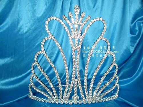 Generic European and American import custom butterfly Princess Bride diamond queen pageant queen crown tiara award model hair accessories headband - European Imports Necklace