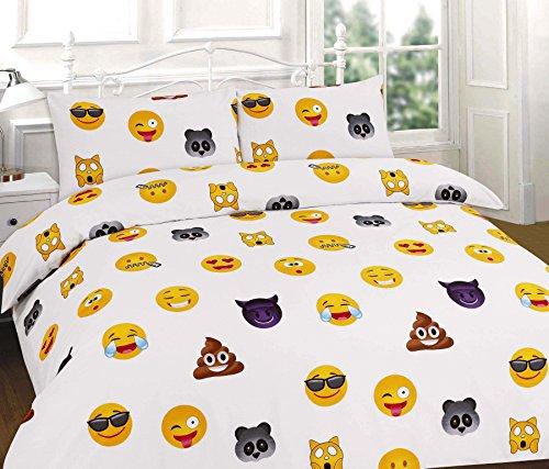 Multi-coloured Just Contempo Emoji Icon Duvet Cover Set Single