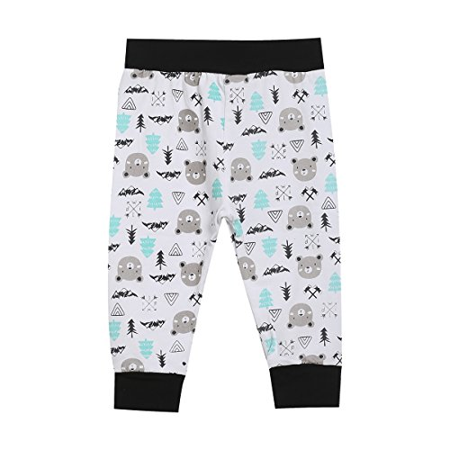 Mini Era Baby Boys' Happy First Father's Day Outfit Set 3PCS Baby Bear Short Sleeve Romper