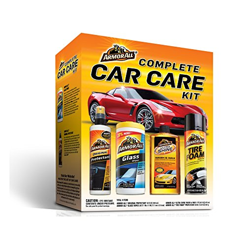 Armor All Complete Car Care Kit (1 count) (4 Items Included) (Car Set Care)