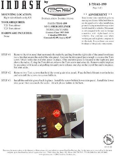 Padholdr Edge Series Premium Tablet Dash Kit for 1997-2010 Freightliner Vehicles by PADHOLDR (Image #4)