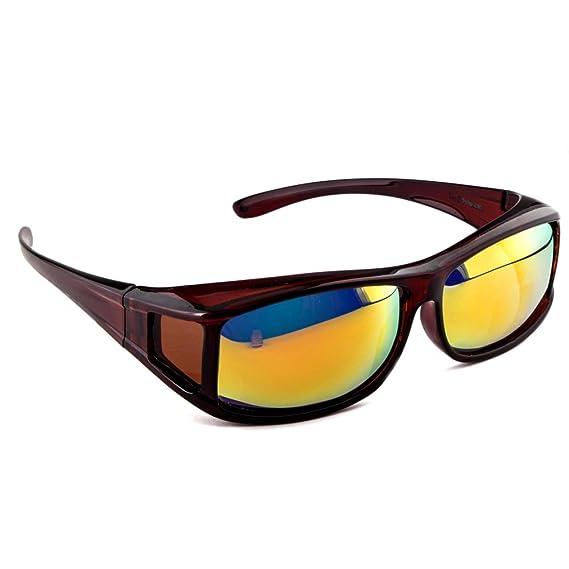 Occhiali da Sole Polarizzati Unisex UV400 - Indossabili sopra occhiali da vista ovvf1JwiS