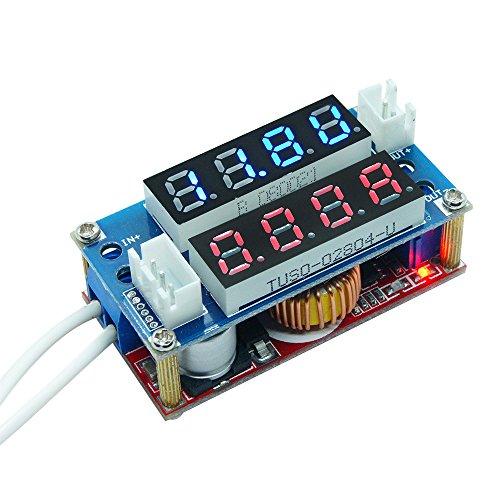 Current Constant Regulators - Aideepen 5A Adjustable CC CV Buck Converter Voltage Regulator 5V-30V to 0.8-28V Step Down Transformer Receiver Charge Power Module with LED Dual Display Voltmet Ammeter (Red&Blue)
