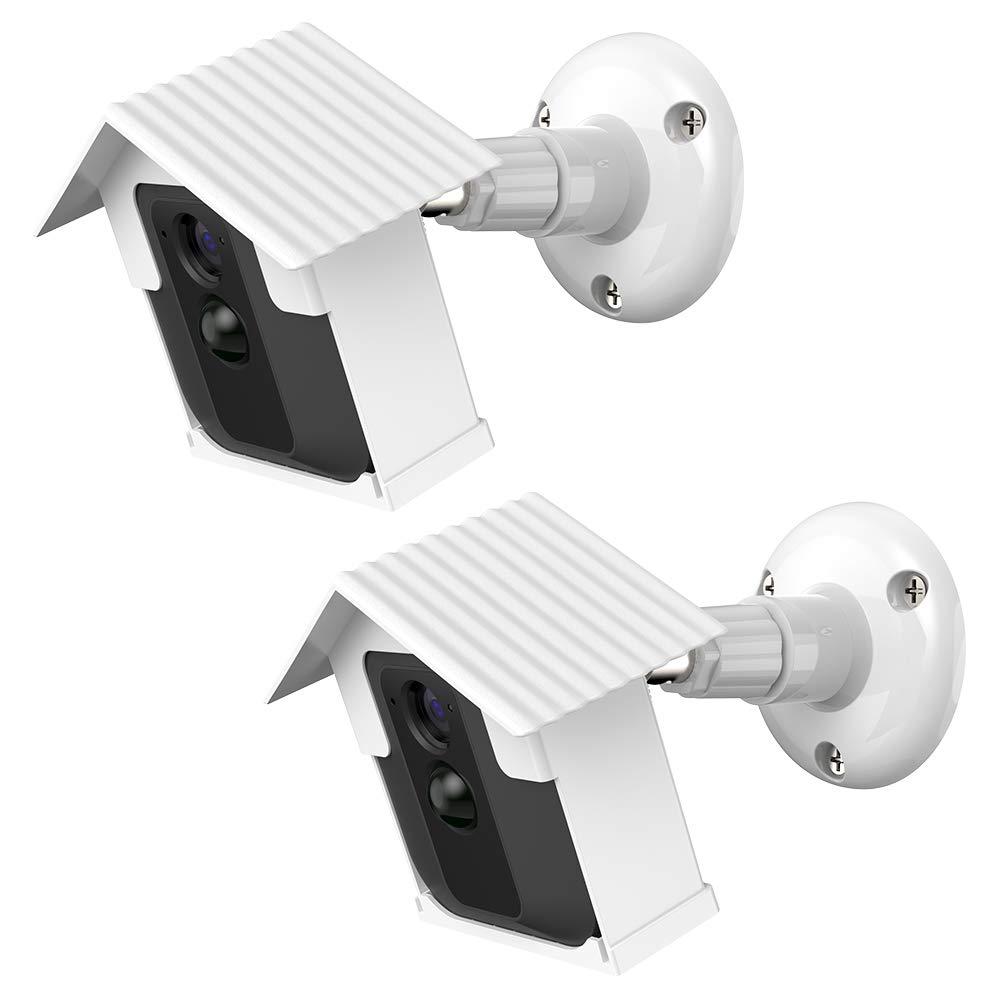 EEEKit 2-Pack Hard Case Mount Bracket for Blink XT Camera, Weather Proof 360 Degree Adjustable Indoor/Outdoor Mount, Extra 1-Pack Outlet Wall Mount Hanger Holder for Blink Sync Module