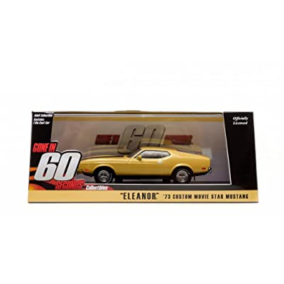 """1973 Ford Mustang Mach 1 Yellow """"Eleanor"""" """"Gone in Sixty Seconds"""" Movie (1974) 1/43 by Greenlight 86412: Toys & Games"""