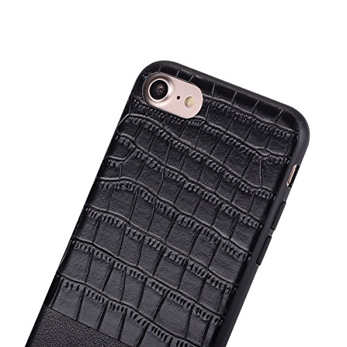 "HYAIT® For IPHONE 7 4.7"" Case[Crocodile][Shockproof] Dual Layer Hybrid Armor Rugged Plastic Hard Shell Flexible TPU Bumper Protective Cover-BAN02"