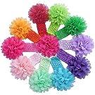 Susenstone® 10 Pieces Babys Headbands Girls Headband Chiffon Flower Hair Bow