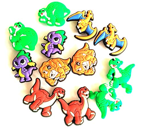 Mikawa impression Different 14 Pcs PVC Shoe Charms for Croc & Jibbitz Bands Bracelet -