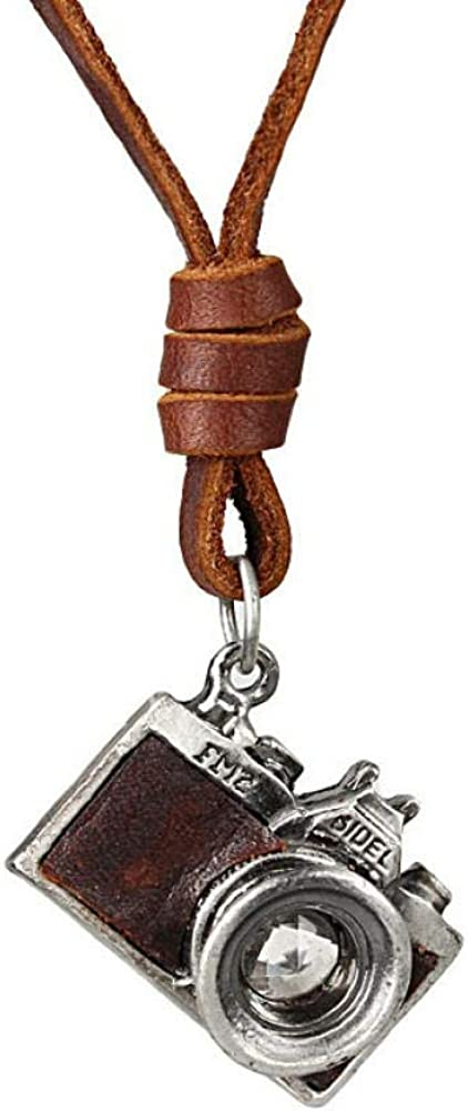 Necklaces,Jewelry,Personalized Jewelry,Camera Pendant Maxi Necklace Men Woman Choker,Genuine Leather Necklace Collares, Collier