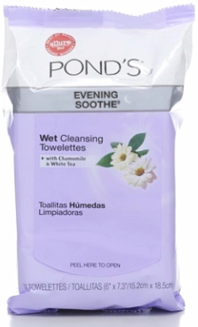 Amazon.com: Ponds Wet Cleansing Towelettes, Evening Soothe, 30 ea (Pack of 8): Beauty