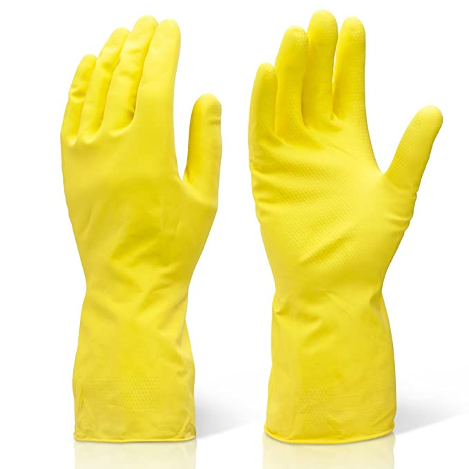 Extra Large Comes With TCH Anti-Bacterial Pen! TheChemicalHut Marigold Industrial Gauntlet Gloves Heavy weight industrial glove rubber latex glove from market leaders Marigold
