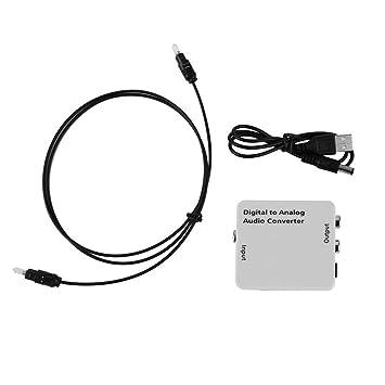 Coaxial óptico Digital Compacto Blanco de Toslink al convertidor análogo del convertidor de la señal de