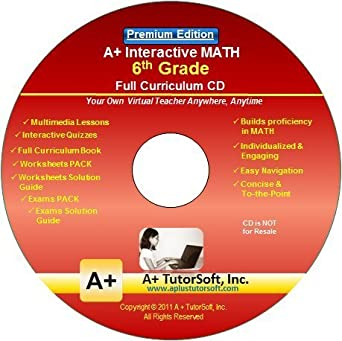 Amazon.com: 6th Grade Math Full Curriculum SW CD Premium Edition ...