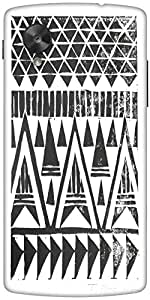 Snoogg Sketch Aztec Designer Protective Back Case Cover For Google Nexus 5