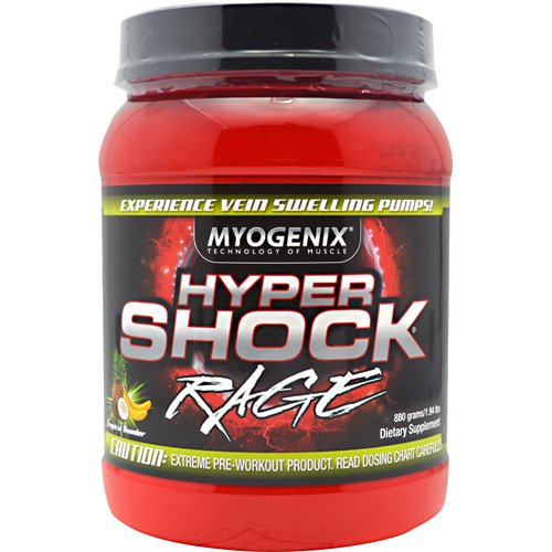 Myogenix - Hypershock Rage - Tropical Thunder, , 880 g powder
