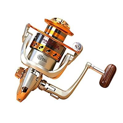 Goswot Left/Right Interchangeable 12BB Ball Bearing Saltwater/Freshwater Fishing Spinning Reel 500-9000 Series Light and Smooth