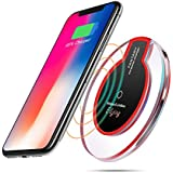 Wireless Charger, E&jing Wireless Charge Charging Pad for iPhone X iPhone 8/ 8 Plus,Samsung Galaxy S8/S8 Plus S7/S7 Edge S6/S6 Edge Note 8/5 Edge[with all Qi enabled phones][No AC Adapter] Charger