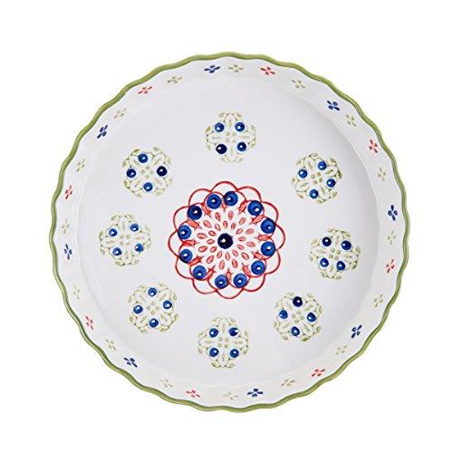 (Pfaltzgraff Pink/Green Ceramic Round Pie Plate, 11-Inch)