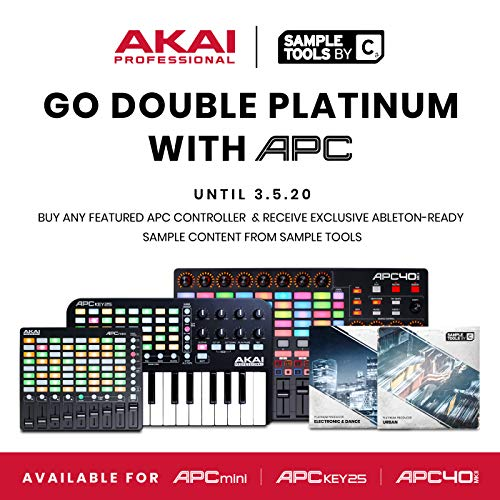 AKAI Professional APC40MKII | USB-Powered MIDI Controller for Mac / PC with Clip Launch Matrix, Knobs & Faders, and Pro…