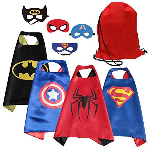SPESS Comics Superhero Cape & Mask costume Set for Toddlers (Alien Child Mask)