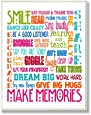 The Kids Room by Stupell Smile Make Memories Rainbow Rectangle Wall Plaque