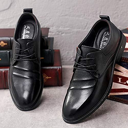 Formal De Cordones Otoño Oxfords Cuero Transpirable Señaló Negocios Para Con Gamuza Black Zapatos Ocio Marrón Hombre Vestir Invierno qCqBXd