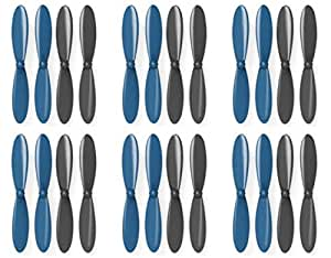 6 x Quantity of Estes Dart Propeller Blades Props Propellers Blue and Black - FAST FROM Orlando, Florida USA!