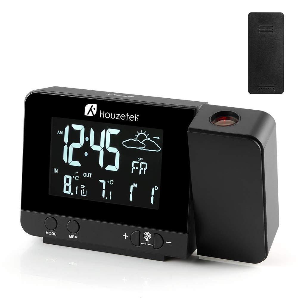 Houzetek sveglia digitale LED con Schermo LCD a Display