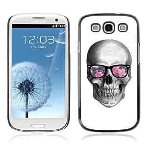 YOYOSHOP [Hipster Glasses Cool Skull] Samsung Galaxy S3 Case