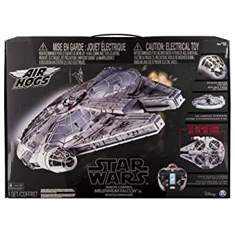Millenium Falcon XL RC Star Wars remote control ship Air Hogs, Flying Drone 2.4GHz 4-Channel with Gyro