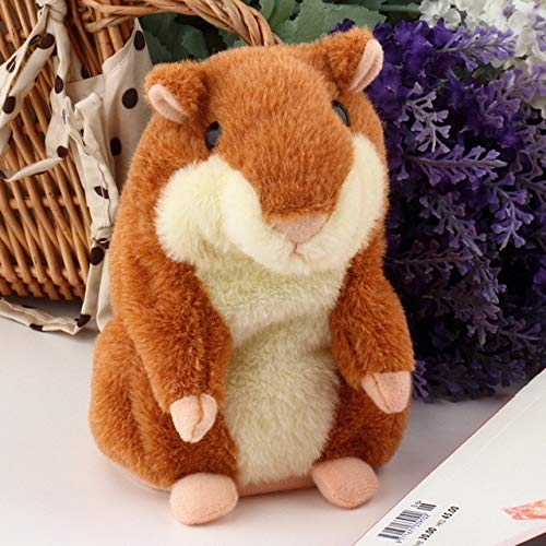 DishyKooker Russian Talking Hamster Pet Electronic Interactive Speaking Record Plush Stuffed Toys Show
