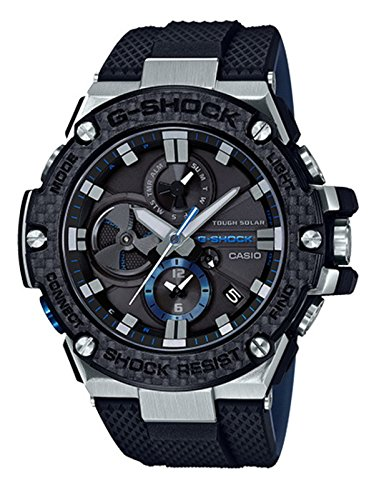 Men's Casio G-Shock G-Steel Black Carbon and Resin Bluetooth Watch GSTB100XA-1A