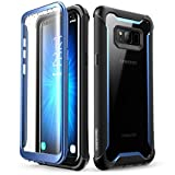 Samsung Galaxy S8+ Plus case, i-Blason [Ares] Full-body Rugged Clear Bumper Case with Built-in Screen Protector for Samsung Galaxy S8+ Plus 2017 Release (Black/Blue)