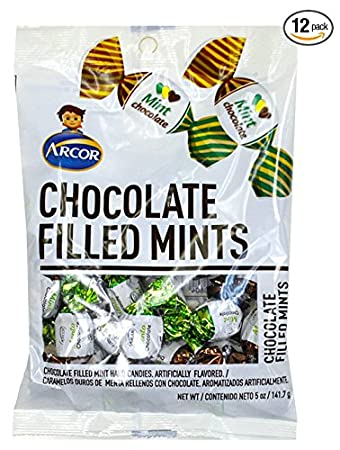 SweetGourmet Arcor Chocolate Filled Mint (Pack of 12 X 5oz)
