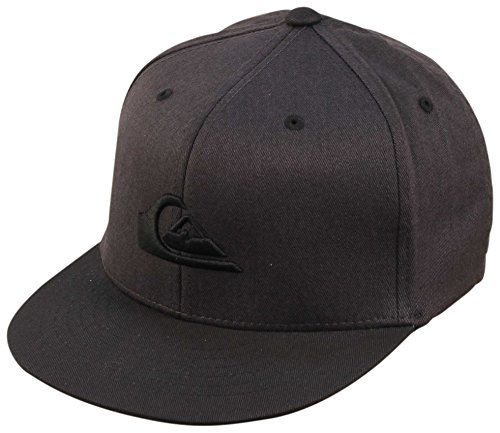 Quiksilver Stretch Hat (Quiksilver Boys Stuckles Flexfit Hat One Size Dark Shadow)
