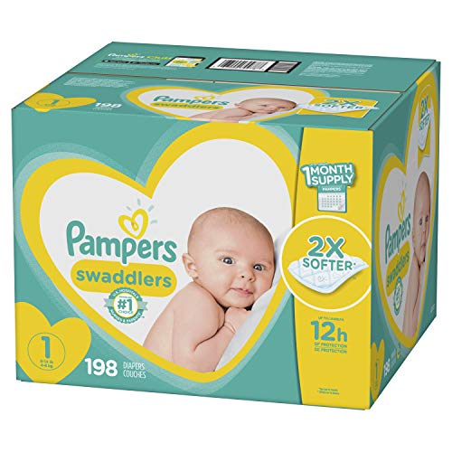 Pampers Swaddlers Newborn Diapers Size 1 198