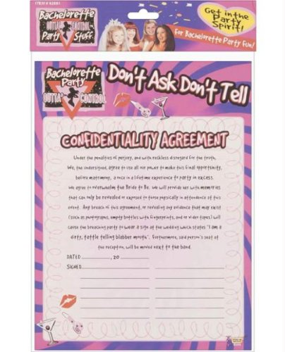Bachelorette Dont Ask Don't Tell Confidentiality Agreement