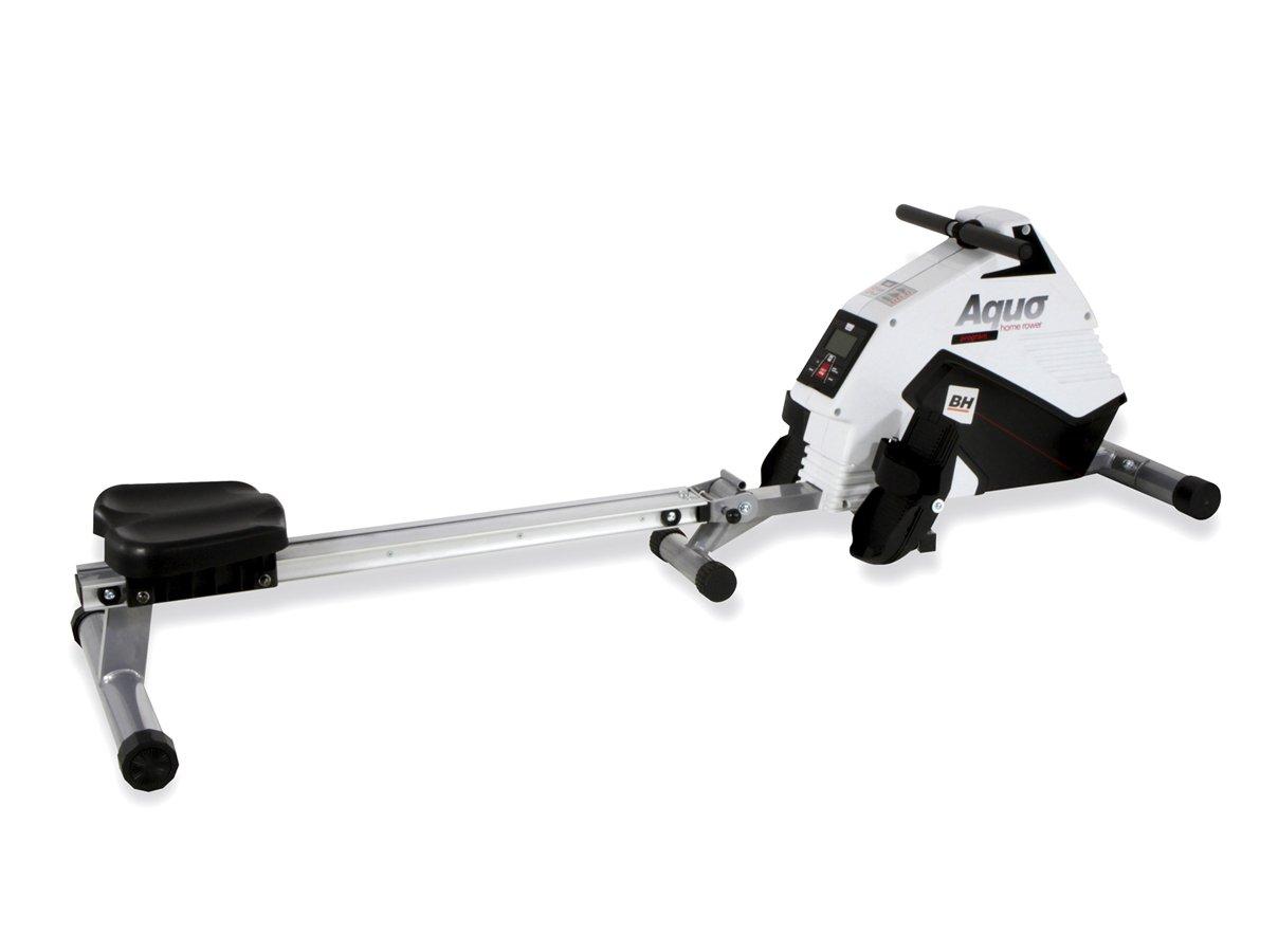 BH Fitness Rudergerät Aquo Program R309 – Magnetisch – zusammenklappbar – Schwungrad 5,5 kg – Anhängerkupplung Zentrale – Programme.