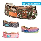 Chillbo Baggins Inflatable Lounge Bag Hammock Air Sofa and Pool Float Ships Fast! Ideal for Indoor or Outdoor Hangout or Inflatable Lounger for Camping Picnics & Music Festivals