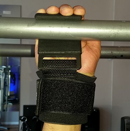 The Beast Power Weight Lifting Hooks | Military Grade Padded Wrist Wrap | Non Slip Coated Aluminum Hook