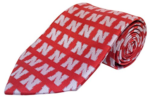- Donegal Bay NCAA Nebraska Cornhuskers Repeating Primay Necktie, Red, One Size