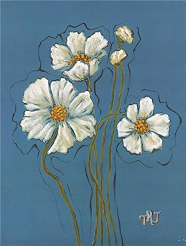 Oil Painting 'White Flowers', 8 x 11 inch / 20 x 27 cm , on High Definition HD canvas prints is for Gifts And Bar, Garage And Nursery Decoration, largeart prints