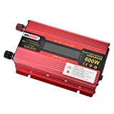 MagiDeal Premium 600W Car Power Inverter 12V to 110V LCD Display Sine Wave USB Converter