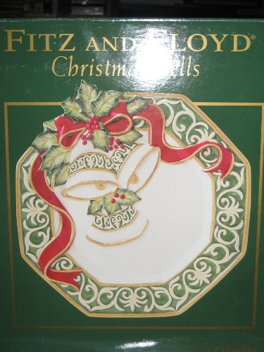 Fitz and Floyd Christmas Bells Snack Canape - Plates Christmas Fitz Floyd And