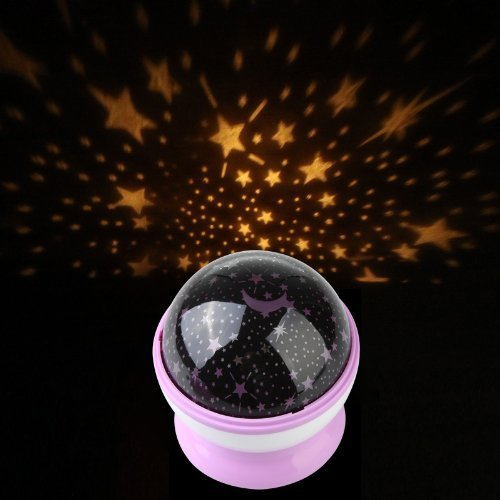 RoyalStyle® LED Projector Night Light Lamp With Beautiful Rotation Star Sky Romantic Colorful Star Light (Purple)