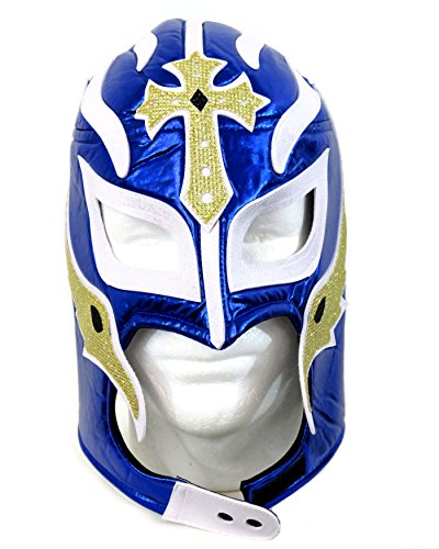 ibre Wrestling Mask (Pro-fit) Costume Wear Royal Blue MX03 (Rey Mysterio Wrestling Mask)