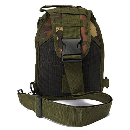 Single SODIAL Forest Backpacks Digital strap Camouflage Camping bag Shoulder ACU R bag shoulder strap Hiking bicycle backpack RqRZ0r